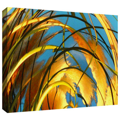 Brushstone Polar Pampas Gallery Wrapped Canvas Wall Art