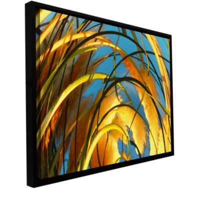 Brushstone Polar Pampas Gallery Wrapped Floater-Framed Canvas Wall Art