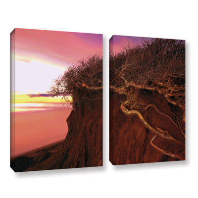 Brushstone Ponto Beach Afterglow 2-pc. Gallery Wrapped Canvas Wall Art