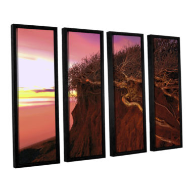 Brushstone Ponto Beach Afterglow 4-pc. Floater Framed Canvas Wall Art