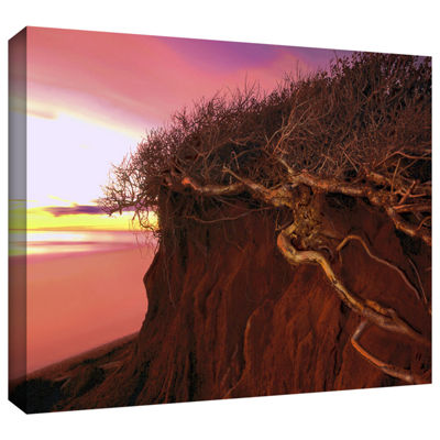 Brushstone Ponto Beach Afterglow Gallery Wrapped Canvas Wall Art