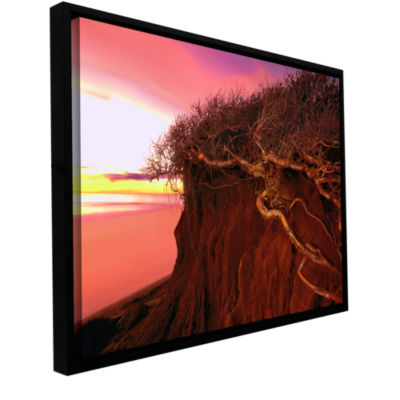 Brushstone Ponto Beach Afterglow Gallery Wrapped Floater-Framed Canvas Wall Art