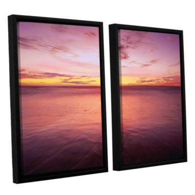 Brushstone Ponto Beach Twilight 2-pc. Floater Framed Canvas Wall Art