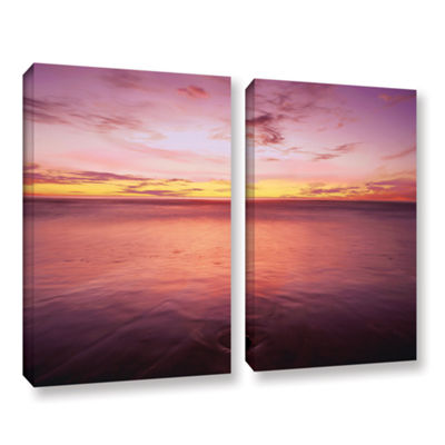 Brushstone Ponto Beach Twilight 2-pc. Gallery Wrapped Canvas Wall Art
