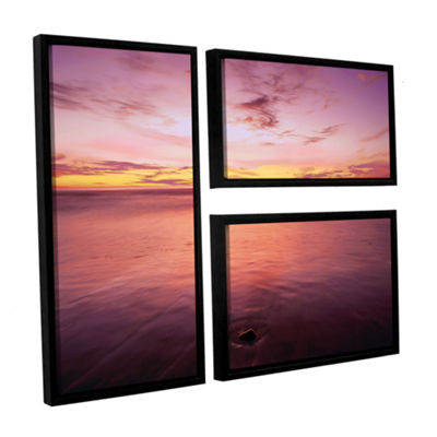 Brushstone Ponto Beach Twilight 3-pc. Flag FloaterFramed Canvas Wall Art