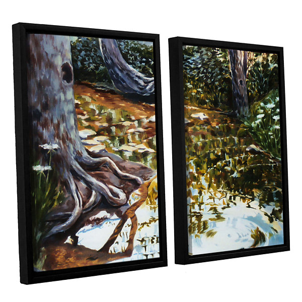 Brushstone Reflections In Stream 2-pc. Floater Framed Canvas Wall Art