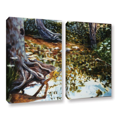 Brushstone Reflections In Stream 2-pc. Gallery Wrapped Canvas Wall Art