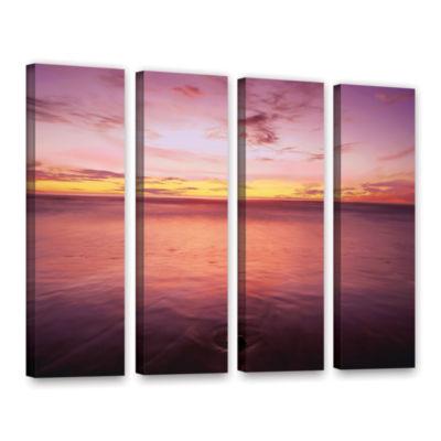 Brushstone Ponto Beach Twilight 4-pc. Gallery Wrapped Canvas Wall Art