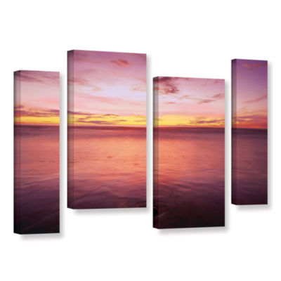 Brushstone Ponto Beach Twilight 4-pc. Gallery Wrapped Staggered Canvas Wall Art
