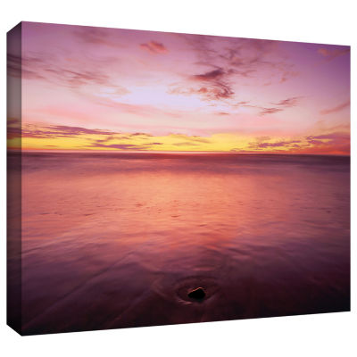 Brushstone Ponto Beach Twilight Gallery Wrapped Canvas Wall Art