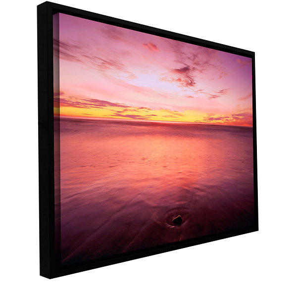 Brushstone Ponto Beach Twilight Gallery Wrapped Floater-Framed Canvas Wall Art