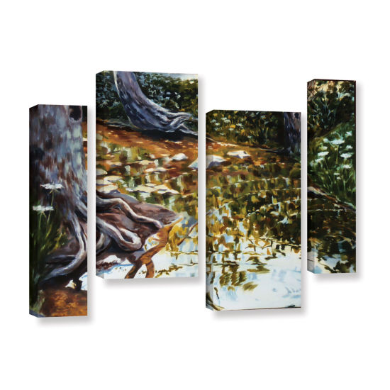 Brushstone Reflections In Stream 4-pc. Gallery Wrapped Staggered Canvas Wall Art