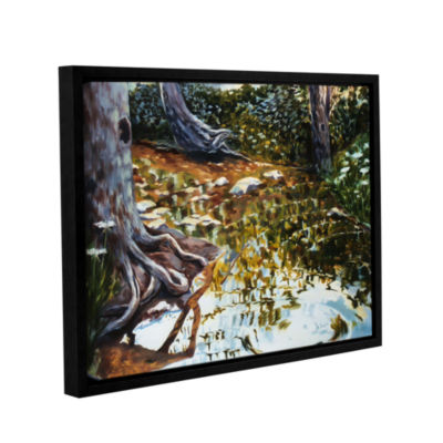 Brushstone Reflections In Stream Gallery Wrapped Floater-Framed Canvas Wall Art