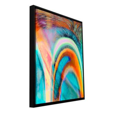 Brushstone Prism Surge Gallery Wrapped Floater-Framed Canvas Wall Art