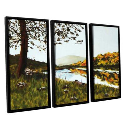 Brushstone River Scene 3-pc. Floater Framed CanvasWall Art