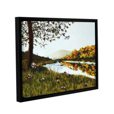 Brushstone River Scene Gallery Wrapped Floater-Framed Canvas Wall Art