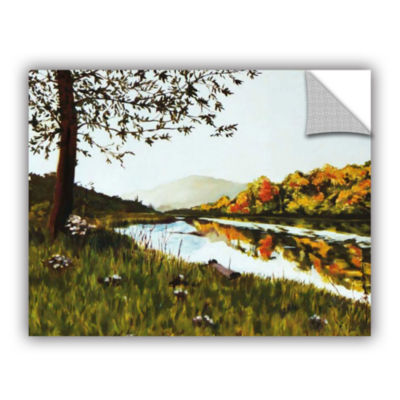 Brushstone River Scene Removable Wall Decal