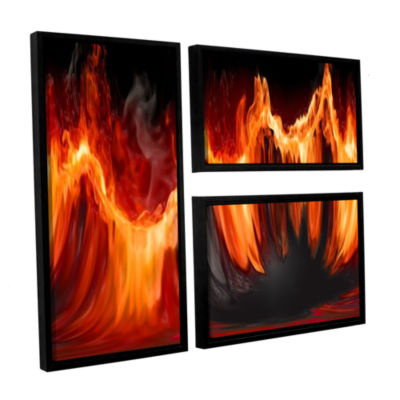 Brushstone Purify III 3-pc. Flag Floater Framed Canvas Wall Art