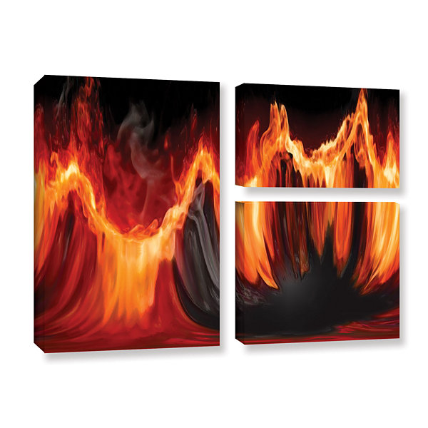 Brushstone Purify III 3-pc. Flag Gallery Wrapped Canvas Wall Art