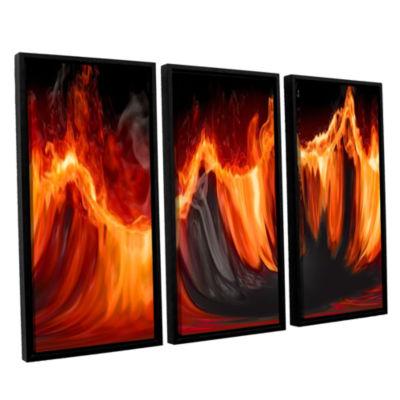 Brushstone Purify III 3-pc. Floater Framed CanvasWall Art