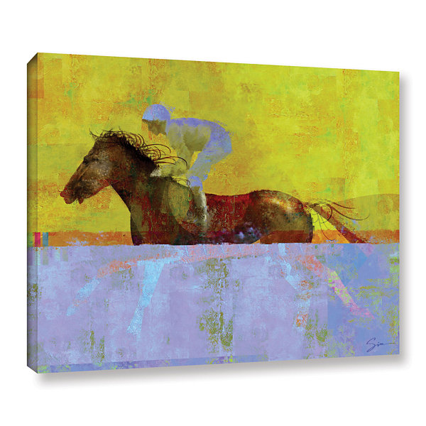Brushstone Rising Steed Gallery Wrapped Canvas Wall Art