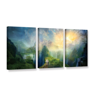Brushstone Road To Oalovah 3-pc. Gallery Wrapped Canvas Wall Art