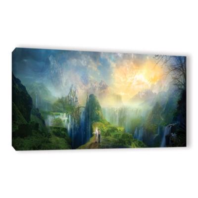 Brushstone Road To Oalovah Gallery Wrapped CanvasWall Art