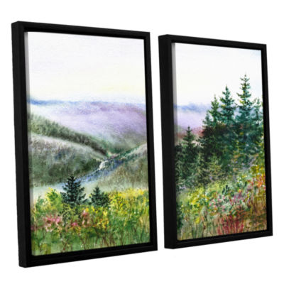 Brushstone Redwood Creek 2-pc. Floater Framed Canvas Wall Art