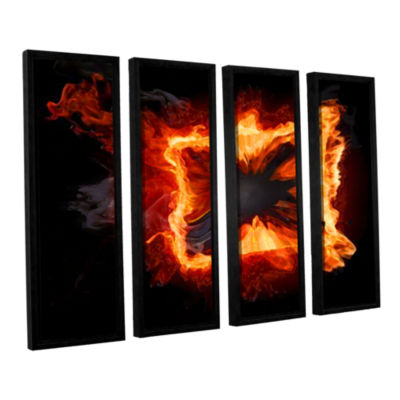 Brushstone Purify Iv 4-pc. Floater Framed Canvas Wall Art