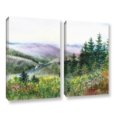 Brushstone Redwood Creek 2-pc. Gallery Wrapped Canvas Wall Art