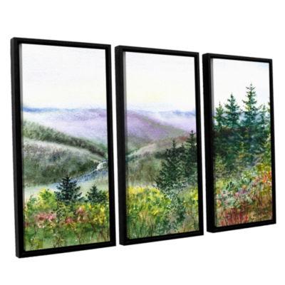 Brushstone Redwood Creek 3-pc. Floater Framed Canvas Wall Art