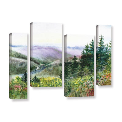 Brushstone Redwood Creek 4-pc. Gallery Wrapped Staggered Canvas Wall Art