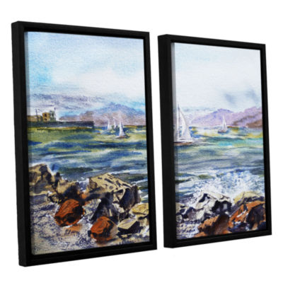 Brushstone Richmond Shore 2-pc. Floater Framed Canvas Wall Art