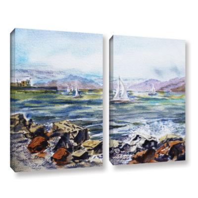 Brushstone Richmond Shore 2-pc. Gallery Wrapped Canvas Wall Art