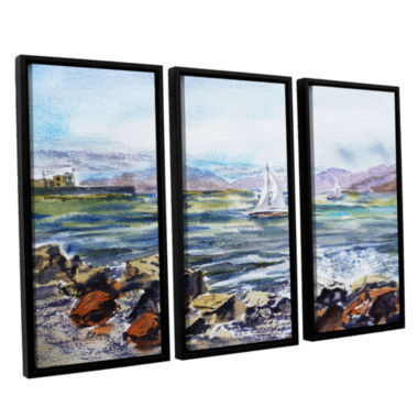 Brushstone Richmond Shore 3-pc. Floater Framed Canvas Wall Art