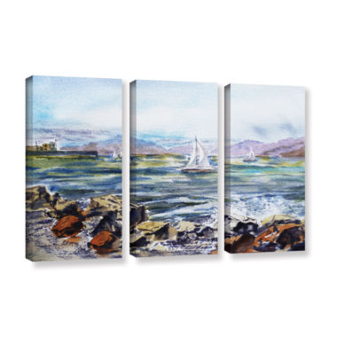 Brushstone Richmond Shore 3-pc. Gallery Wrapped Canvas Wall Art