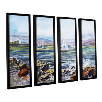 Brushstone Richmond Shore 4-pc. Floater Framed Canvas Wall Art