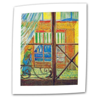 Brushstone Pork-Butchers Shop Through The Window Canvas Wall Art