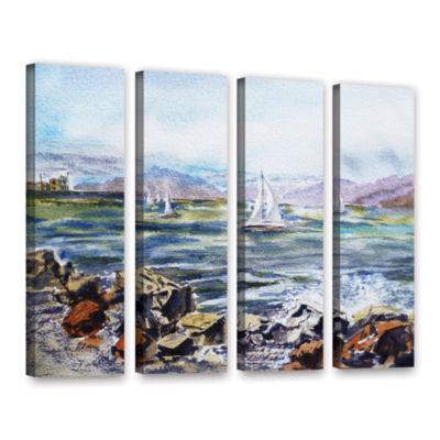 Brushstone Richmond Shore 4-pc. Gallery Wrapped Canvas Wall Art
