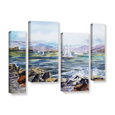 Brushstone Richmond Shore 4-pc. Gallery Wrapped Staggered Canvas Wall Art