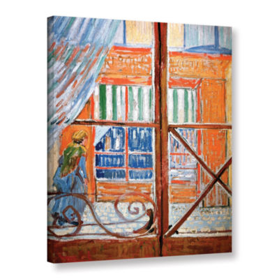 Brushstone Pork-Butchers Shop Through The Window Gallery Wrapped Canvas Wall Art