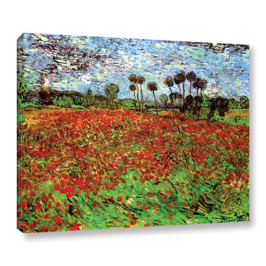 Brushstone Poppy Field Gallery Wrapped Canvas WallArt