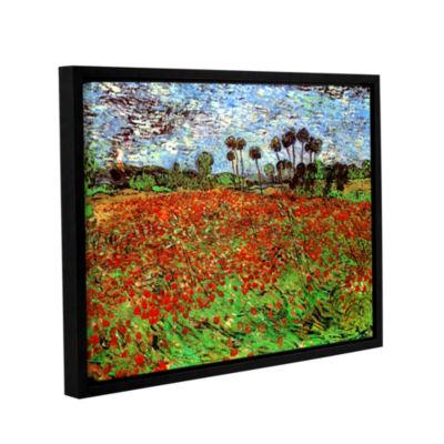 Brushstone Poppy Field Gallery Wrapped Floater-Framed Canvas Wall Art