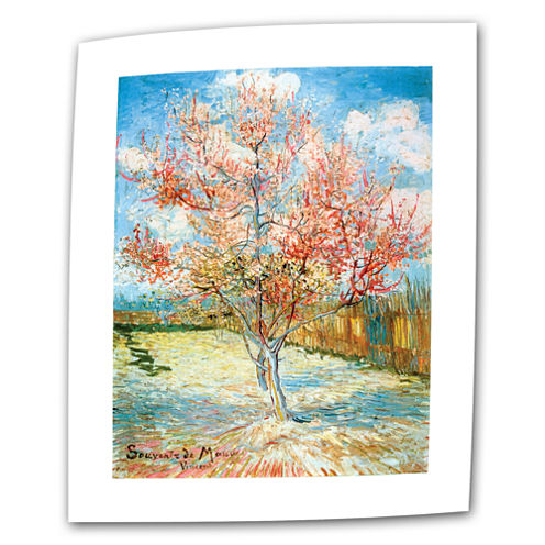 Brushstone Pink Peach Tree Canvas Wall Art