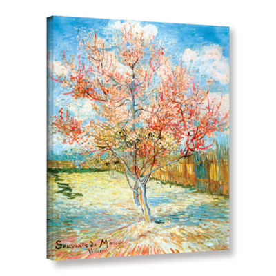 Brushstone Pink Peach Tree Gallery Wrapped CanvasWall Art