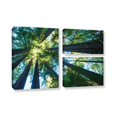 Brushstone Redwood Fusion 3-pc. Flag Gallery Wrapped Canvas Wall Art