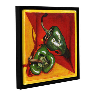 Brushstone Poblano Gallery Wrapped Floater-FramedCanvas Wall Art