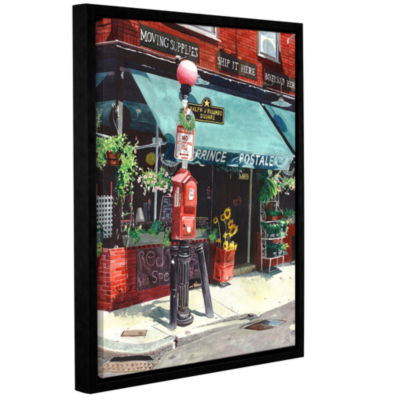 Brushstone Prince Postale Gallery Wrapped Floater-Framed Canvas Wall Art