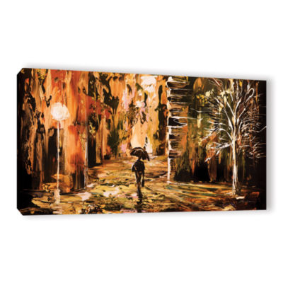 Brushstone Rain 2 Gallery Wrapped Canvas Wall Art