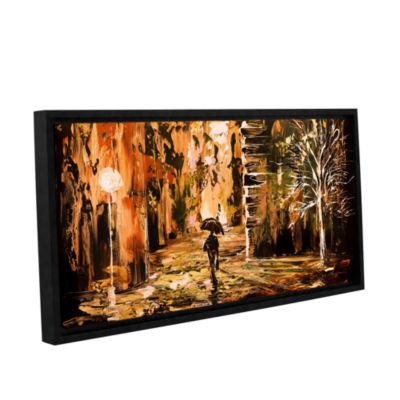 Brushstone Rain 2 Gallery Wrapped Floater-Framed Canvas Wall Art